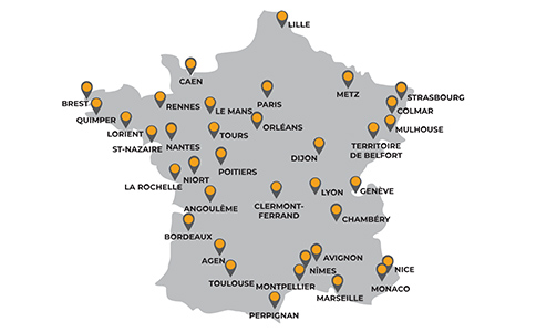 map of Other regional offices