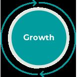 Growth agility icon